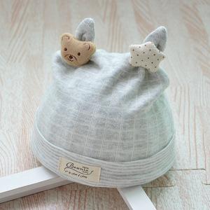 Bonnet étoile gris