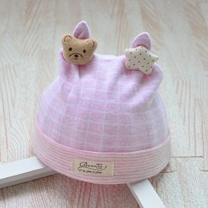 Bonnet étoile rose